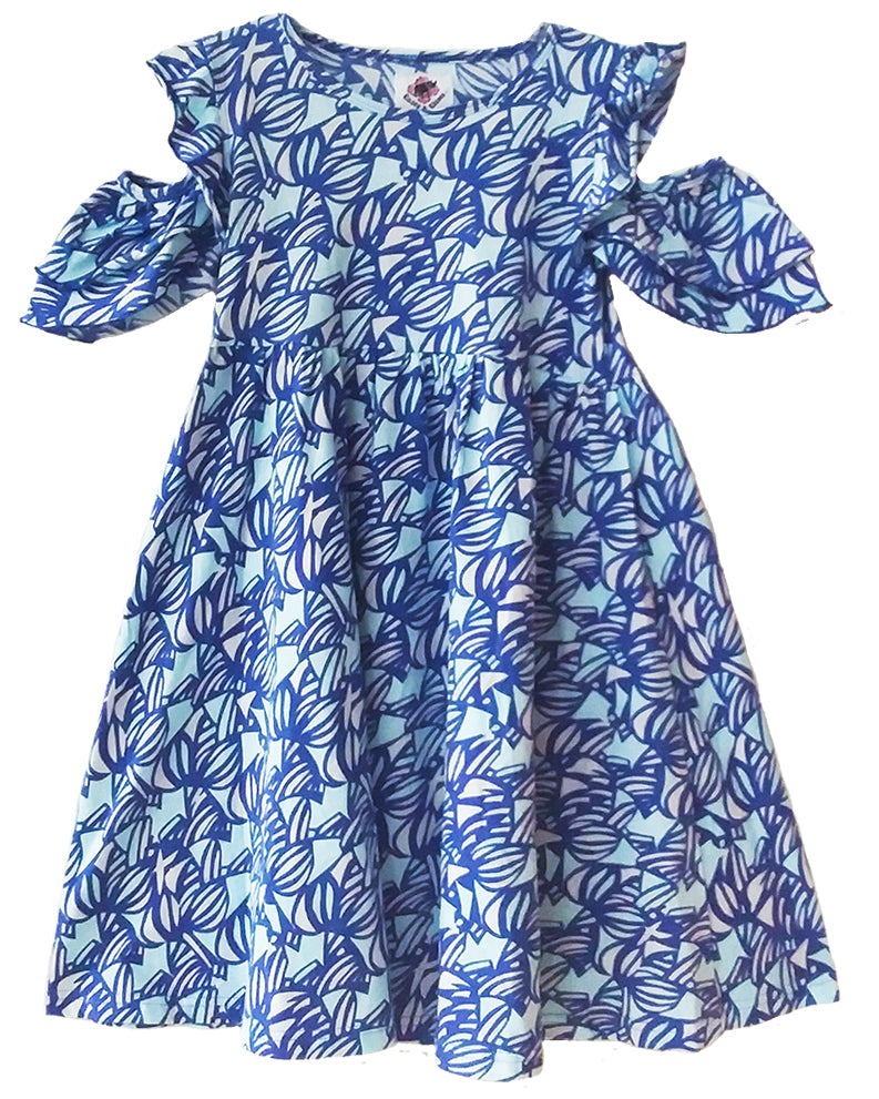 Swirl Peep Dress - Roses & Rhinos