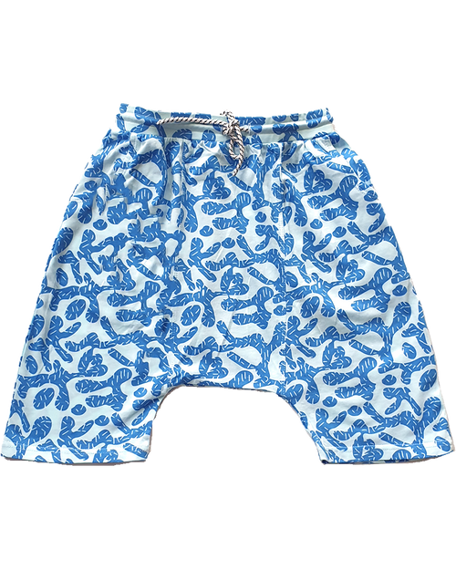 Swish Drop Crotch Shorts - Roses & Rhinos
