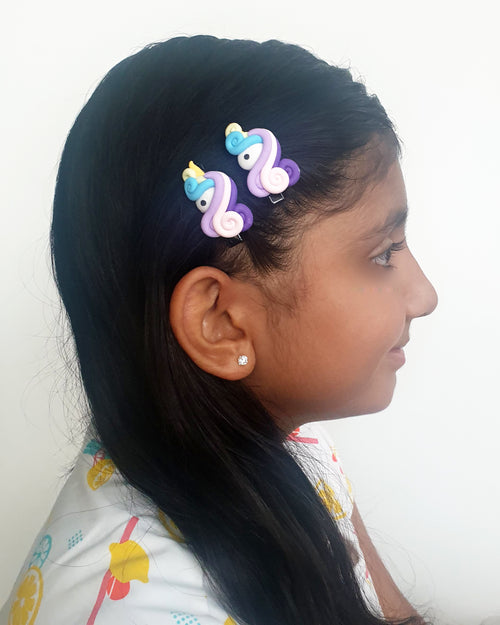 Unicorn Purple Hair Clip x2 - Roses & Rhinos