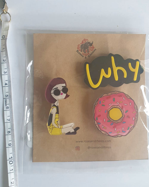 Why Donut x 3 Pin - Roses & Rhinos
