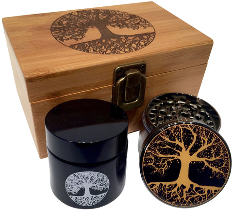 Tree of Life Stash Box Combo - Grinder Combo Box