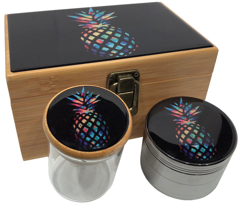 Pineapple Stash Box Combo with Grinder - Pineapple Combo