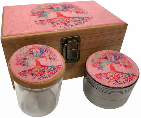 Tree of Life Stash Box Combo - Tree of Life Colorful Pink