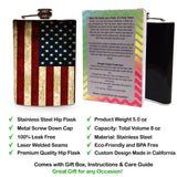 American Flag Hip Flask for Alcohol