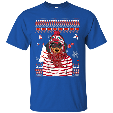 Christmas dachshund g200 gildan ultra cotton t shirt for G200 gildan ultra cotton t shirt
