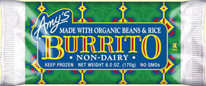 AMY'S KITCHEN BEANS & RICE BURRITO 170g