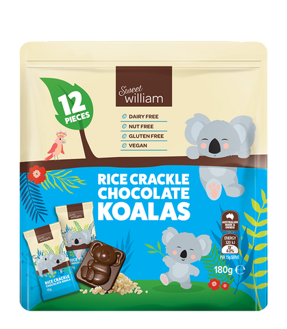 SWEET WILLIAM CHOCOLATE KOALA MINI BAR MULTI PACK 180g