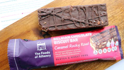 THE FOODS OF ATHENRY CARAMEL ROCKY ROAD BAR