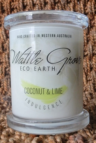 WATTLE GROVE CANDLE COCONUT & LIME MEDIUM