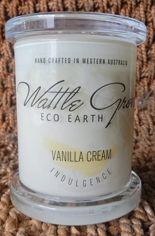 WATTLE GROVE CANDLE VANILLA CREAM MEDIUM