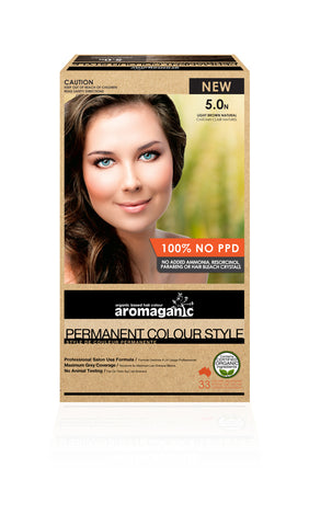 AROMAGANIC ORGANIC HAIR COLOUR LIGHT BROWN