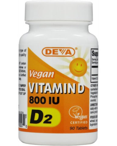 DEVA VITAMIN D2 800IU TABLETS