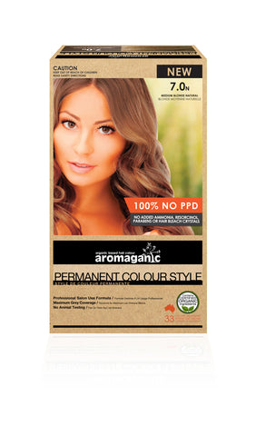 AROMAGANIC ORGANIC HAIR COLOUR MEDIUM BLONDE NATURAL