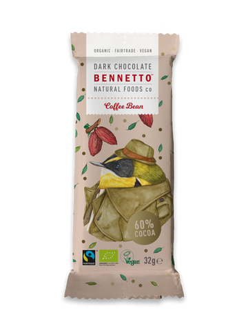 BENNETTO ORGANIC DARK CHOCOLATE COFFEE BEAN