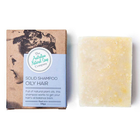 AUSTRALIAN NATURAL SOAP COMPANY SOLID SHAMPOO OILY HAIR 100g