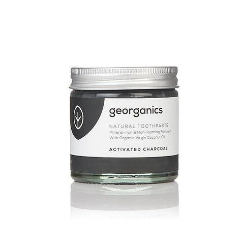 GEORGANICS NATURAL TOOTHPASTE ACTIVATED CHARCOAL