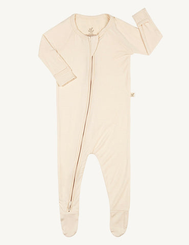 BOODY BABY LONG SLEEVE ONESIE 0-3MTHS CHALK