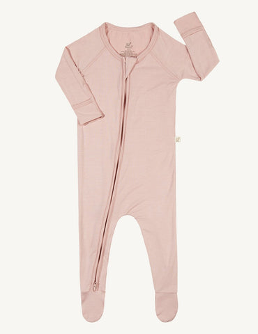 BOODY BABY LONG SLEEVE ONESIE 0-3MTHS ROSE