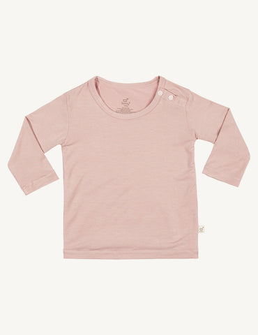 BOODY BABY LONG SLEEVE TOP 12-18MTHS ROSE