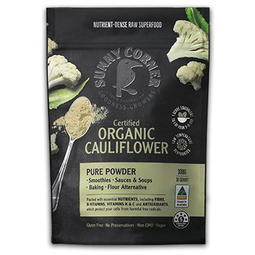 SUNNY CORNER ORGANIC PURE CAULIFLOWER POWDER 150g