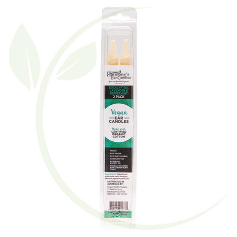 HARMONY'S EAR CANDLES - EUCALYPTUS, LAVENDER & PEPPERMINT 2 PACK