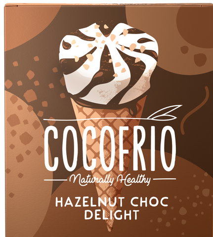 COCOFRIO ICE CREAM CONE GF HAZELNUT CHOC DELIGHT