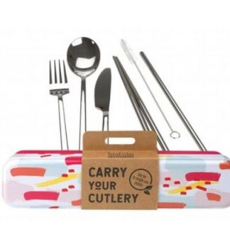 RETROKITCHEN CARRY YOUR CUTLERY SET - COLOUR SPLASH