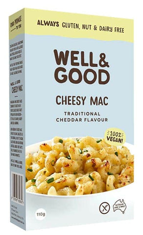 WELL & GOOD CHEESY MAC TRADITIONAL CHEDDAR FLAVOUR