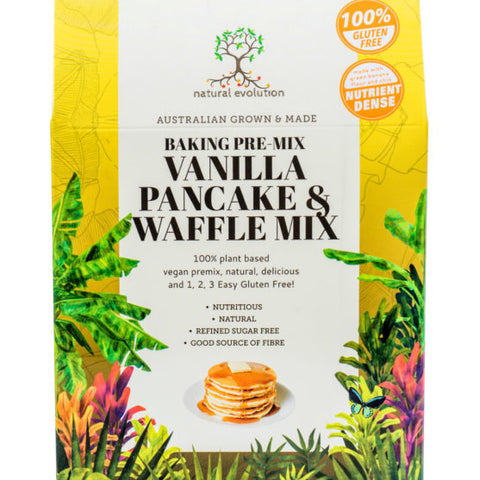 NATURAL EVOLUTION VANILLA PANCAKE & WAFFLE MIX 389g