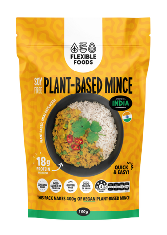 FLEXIBLE FOODS SOY FREE MINCE TASTE OF INDIA FLAVOUR 100g