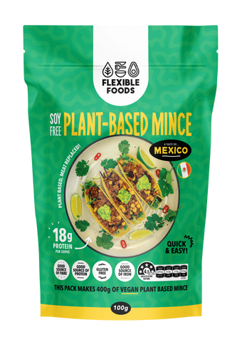 FLEXIBLE FOODS SOY FREE MINCE TASTE OF MEXICO FLAVOUR 100g