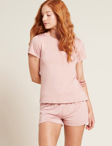 BOODY GOODNIGHT SLEEP TEE DUSTY PINK MEDIUM 12-14