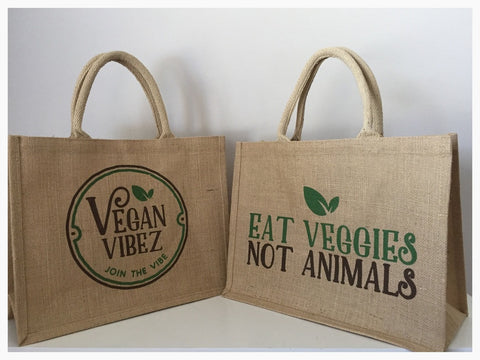 VEGAN VIBEZ BAG EAT VEGGIES NOT ANIMALS