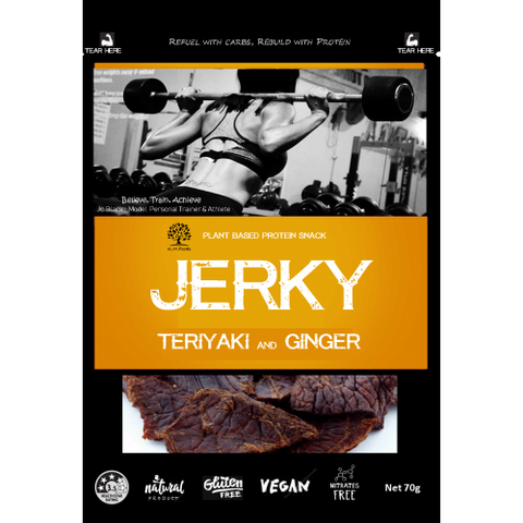 KM FOODS JERKY TERIYAKI AND GINGER