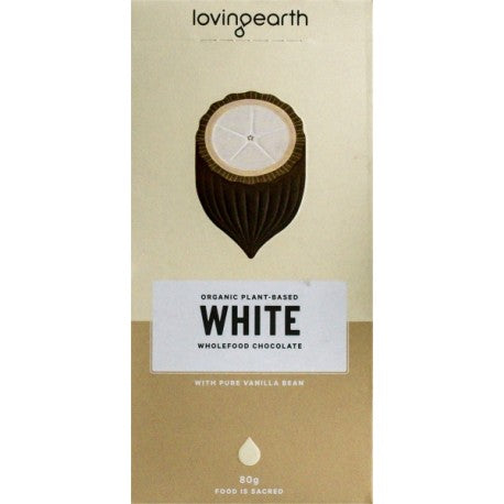 LOVING EARTH WHITE CHOCOLATE 80g