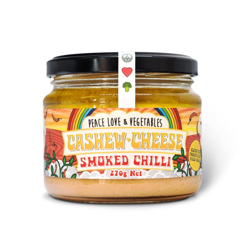 PEACE, LOVE & VEGETABLES CASHEW CHEESE SMOKED CHILLI