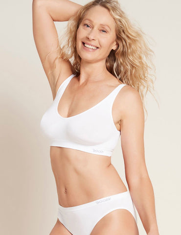 BOODY WOMEN'S SHAPER CROP BRA MEDIUM 12-14 WHITE