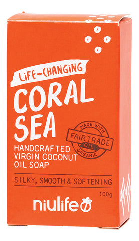 NIULIFE COCONUT OIL SOAP CORAL SEA