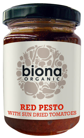 BIONA RED PESTO WITH SUN DRIED TOMATOES