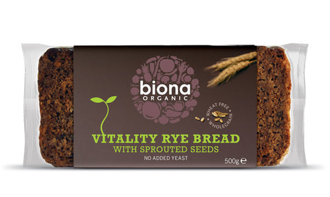 BIONA RYE BREAD VITALITY WITH SPROUTED SEEDS