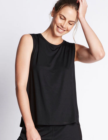 BOODY ACTIVE MUSCLE TANK - BLACK - SMALL
