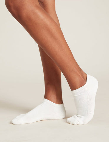 BOODY WOMEN'S CUSHIONED SPORT ANKLE SOCKS 3-9 WHITE