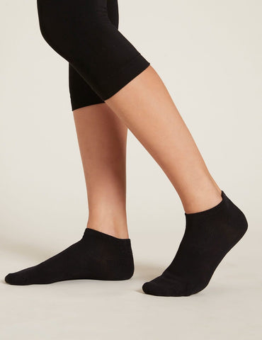 BOODY WOMEN'S LOW CUT SNEAKER SOCKS 3-9 BLACK