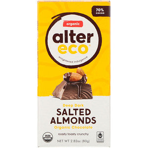 ALTER ECO DEEP DARK SALTED ALMONDS CHOCOLATE