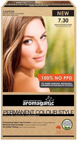 AROMAGANIC ORGANIC HAIR COLOUR MEDIUM GOLDEN BLONDE
