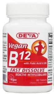 DEVA VITAMIN B12 SUBLINGUAL TABLETS 1000mcg