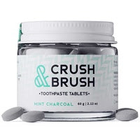NELSON NATURALS CRUSH & BRUSH TOOTHPASTE TABLETS MINT CHARCOAL (75 tabs)