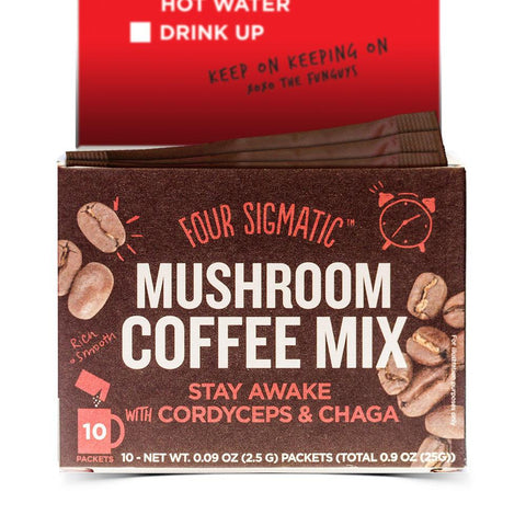 FOUR SIGMATIC MUSHROOM COFFEE MIX CORDYCEPS & CHAGA 10 PACK