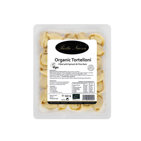 PASTA NUOVA ORGANIC TORTELLONI WITH SPINACH & PINE NUT