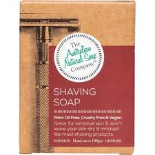 AUSTRALIAN NATURAL SOAP COMPANY SHAVING SOAP BAR 100g